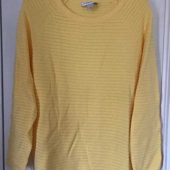 66% off Christopher & Banks Sweaters - C&B yellow ribbed sweater ...